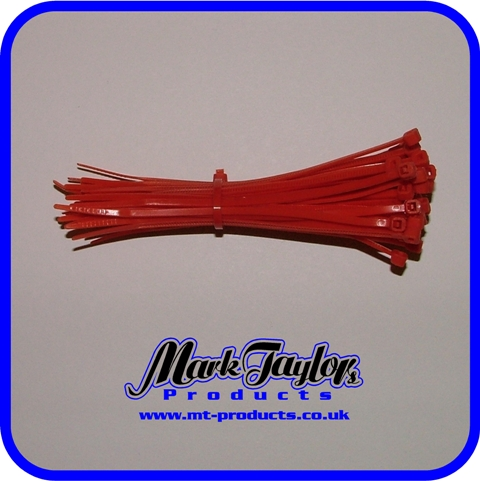 "4"" tie wraps ( RED )"