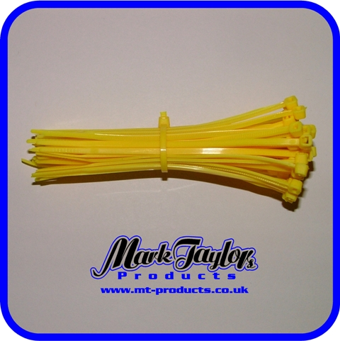 "4"" tie wraps ( YELLOW )"