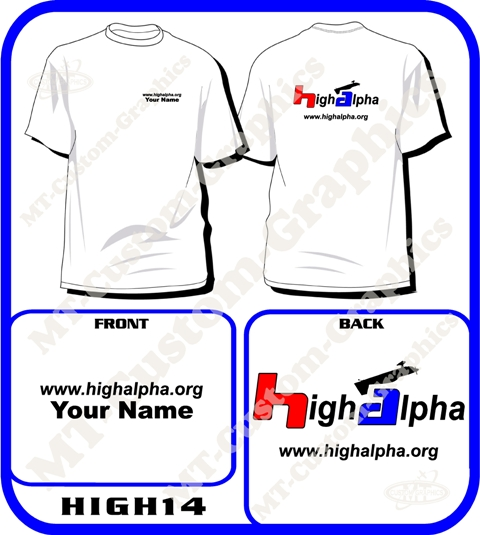 High Alpha T-shirt Front & Back 2