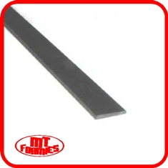 3.0mm x 0.13mm Carbon Flat x 500mm long