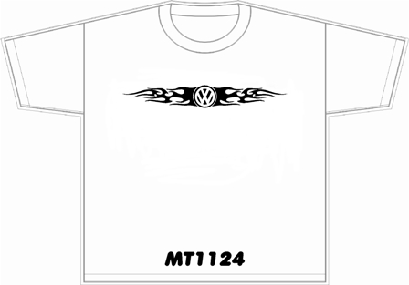 VW T-shirt with flames logo
