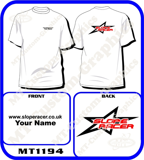 Slope Racer T-shirt Front & Back logos