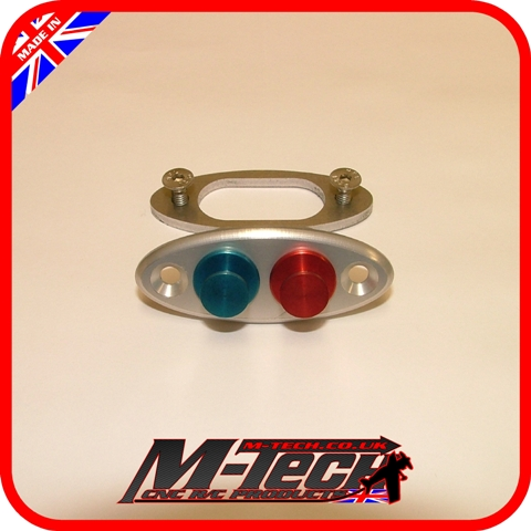 Twin Fuel Dot Clear with Red & Blue Dots