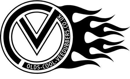 VDUB RH flamed logo sticker
