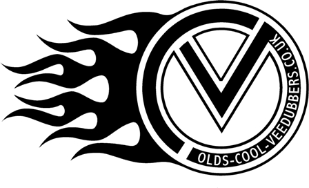 VDUB LH flamed logo sticker