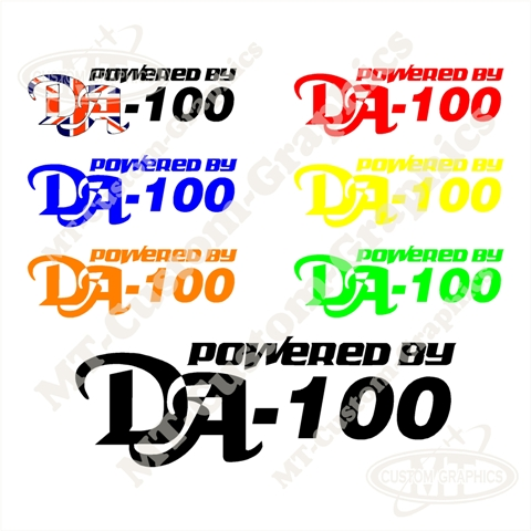 Powered By DA-100 Logo
