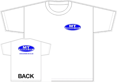 MT-Smoke-Oil T-shirt with logo front and back